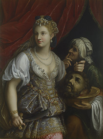 Fede Galizia Giuditta con la testa di Oloferne 1601 Olio su tela, Ministero per i Beni e le Attività culturali – Galleria Borghese