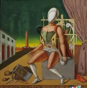Giorgio de Chirico, Orfeo trovatore stanco, 1970, olio su tela, Fondazione Giorgio e Isa de Chirico, Roma © Giorgio De Chirico by SIAE 2020