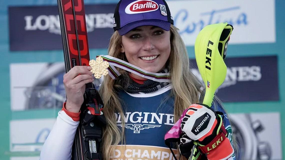 Cortina 2021 Campionati mondiali di sci alpino - Cortina d'Ampezzo 15/02/2021: Combinata alpina, Mikaela Shiffrin (USA), Photo: Pentaphoto Gio Auletta.