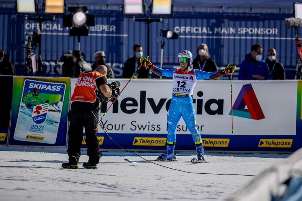 Cortina 2021 Campionati mondiali di Sci alpino. Cortina d'Ampezzo 1/02/2021 Luca De Aliprandini (Italia) © Copyright /Michela Andreola.