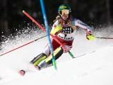 Cortina 2021 Campionati mondiali di Sci alpino. Katharina Liensberger (Austria) in slalom Cortina d'Ampezzo 20/02/2021 Photo: Pentaphoto Gabriele Facciotti.