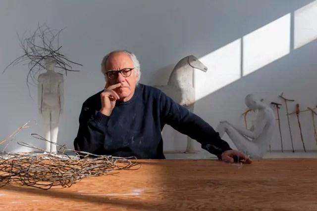 Mimmo Paladino, ritratto di Lorenzo Palmieri.