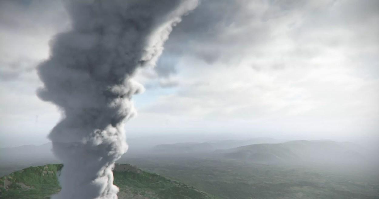 Eruzione virtuale del Vesuvio (ph. Cives - Mav).
