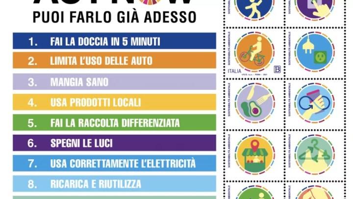 Poste Italiane Sostenibilità ambientale francobollo