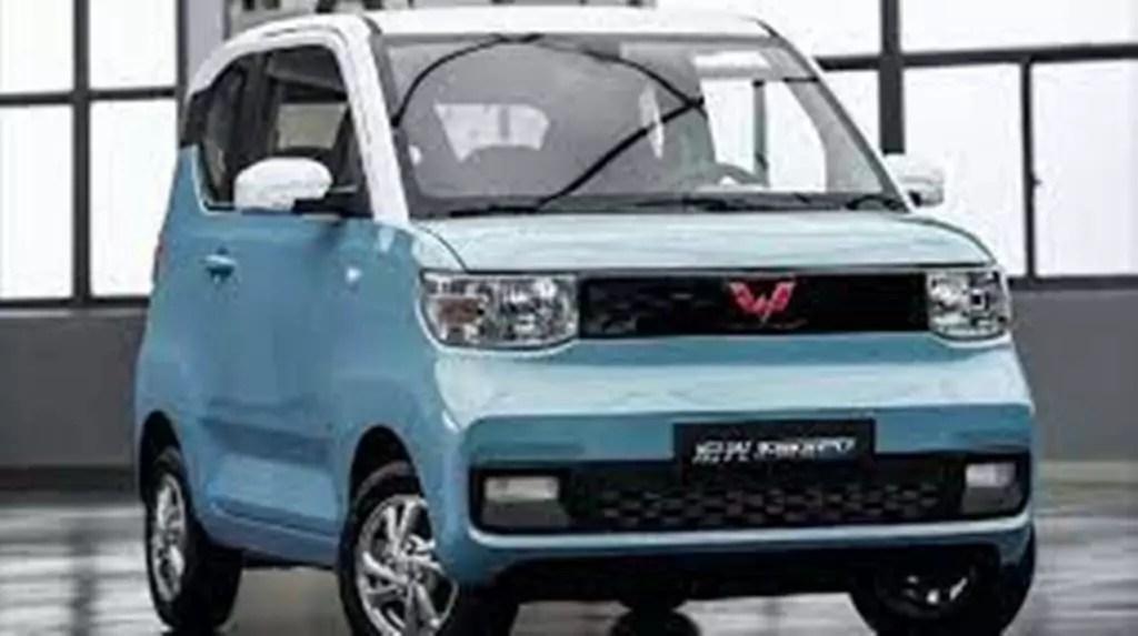 L'auto elettrica di produzione cinese HongGuang Mini EV.
