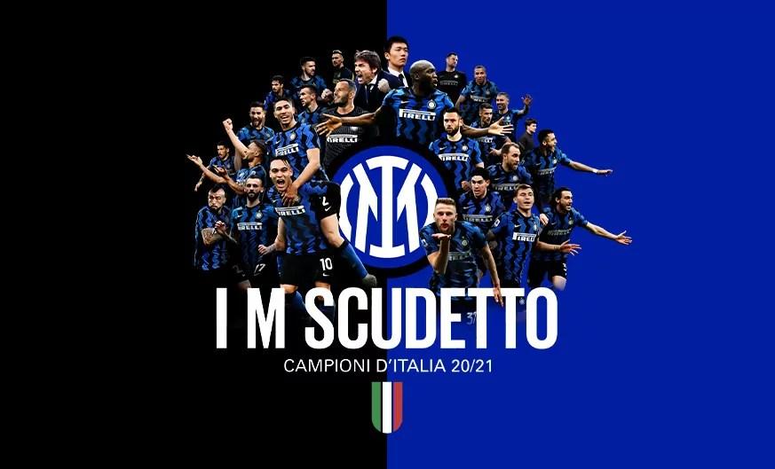 34 Giornata, Serie A: l'Inter festeggia lo Scudetto. Dopo 11 anni, i nerazzurri conquistano il loro 19esimo titolo di Campioni d'Italia. Dopo la vittoria di Crotone, ci pensa il Sassuolo ad annullare le speranze di rimonta bergamasche (credit Inter Official Website)