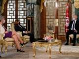 La commissaria Ue agli affari interni Ylva Johansson e la ministra degli Interni Luciana lamorgese a colloquio con il Presidente della Repubblica della Tunisia Kais Saied a Tunisi il 20 maggio 2021.