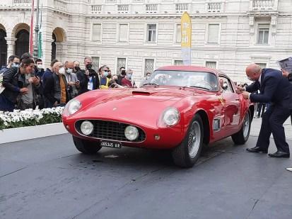 La Ferrari 250 Tour de France del 1957 vincitrice del premio del pubblico al Concorso di Eleganza Città di Trieste 2021 (foto C. Carugati / In24).
