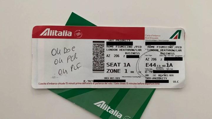 Alitalia Volo AZ 206