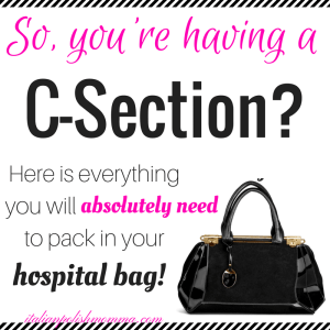 C-section hospital bag