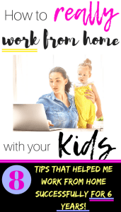 8 Work from home tips for moms