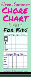 Free Chore Chart Printables For Kids