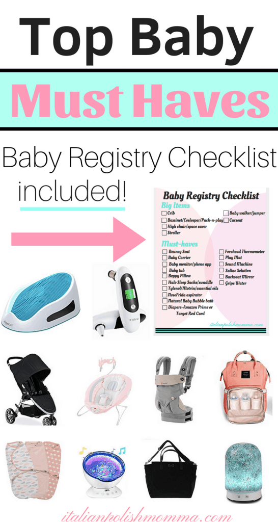 Top baby must haves with baby registry checklist