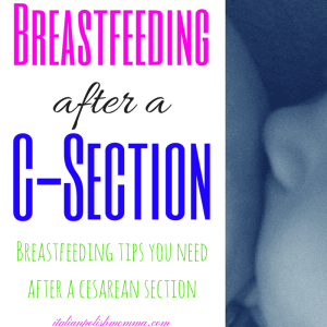 Breastfeeding after a csection