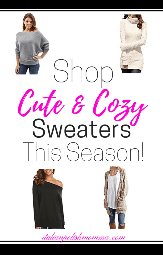 Shop cute and cozy sweaters!