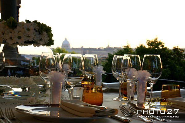 wedding to Villa Borghese restaurant