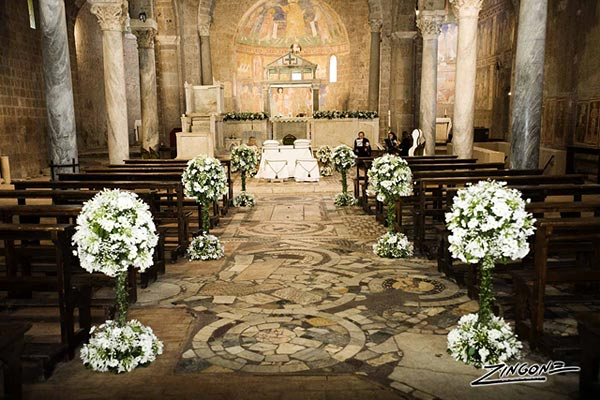 countryside wedding ceremony to St. Elias's Abbey Rome