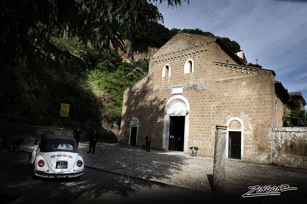 countryside wedding to St. Elias's Abbey Rome