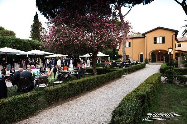 open air wedding reception venue in Rome