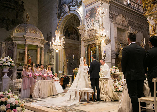 Rome catholic wedding