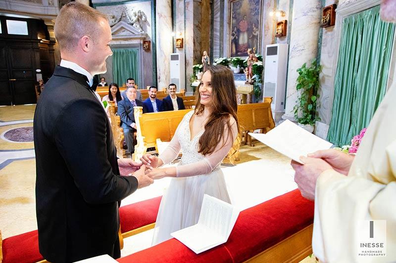 Church wedding in Rome