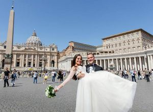 wedding in the heart of Vatican city