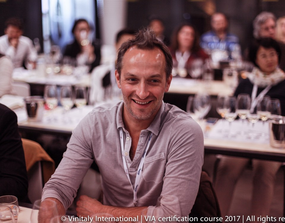 VIA Candidate Kevin Gagnon during the Vinitaly International Academy Certification Course in April