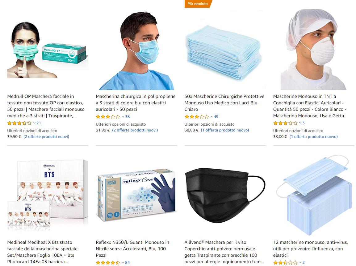 maschere anti virus gratis
