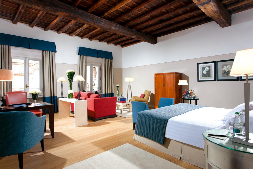 Chambre Grand Deluxe Grand Hotel de la Minerve Rome