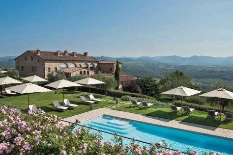 Hotel Le Fontanelle, Pianella - Sienne (Piscine et vue panoramique)