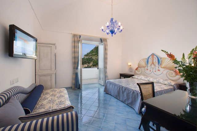Une chambre du Palazzo Marzoli (Positano, Côte Amalfitaine)