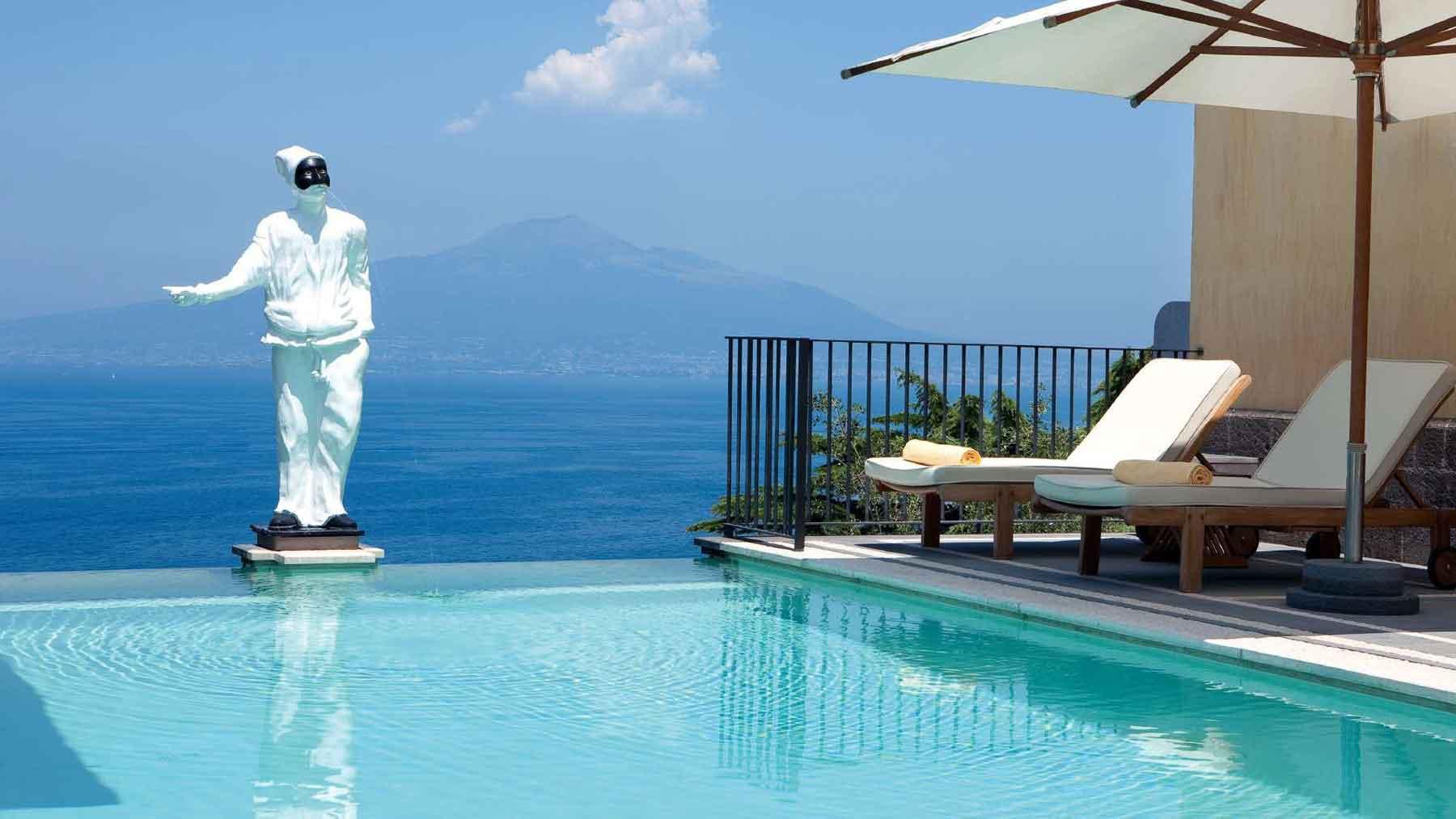 Piscine du Grand Hotel Angiolieri - Seiano, Vico Equense près de Sorrente Italie