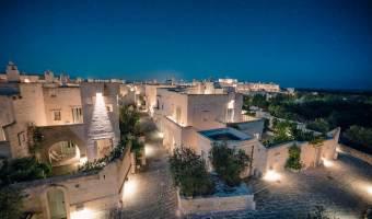 Borgo Egnazia, hotel 5 étoiles dans les Pouilles - Italie du sud (vue de nuit)