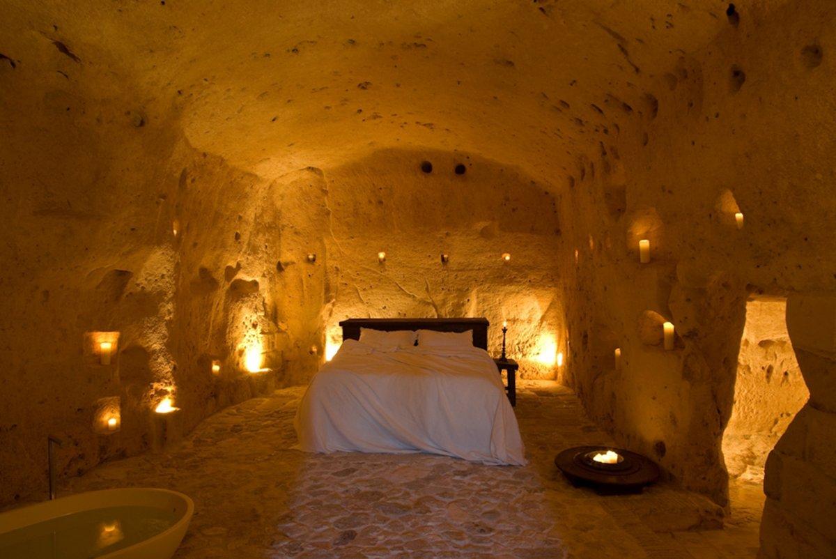 Le Grotte Della Civita, Hotel de charme Matera Italie : Grotta 14 (Suite)
