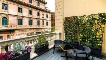 The H'All Tailor Suite Rome : Suite (terrasse)