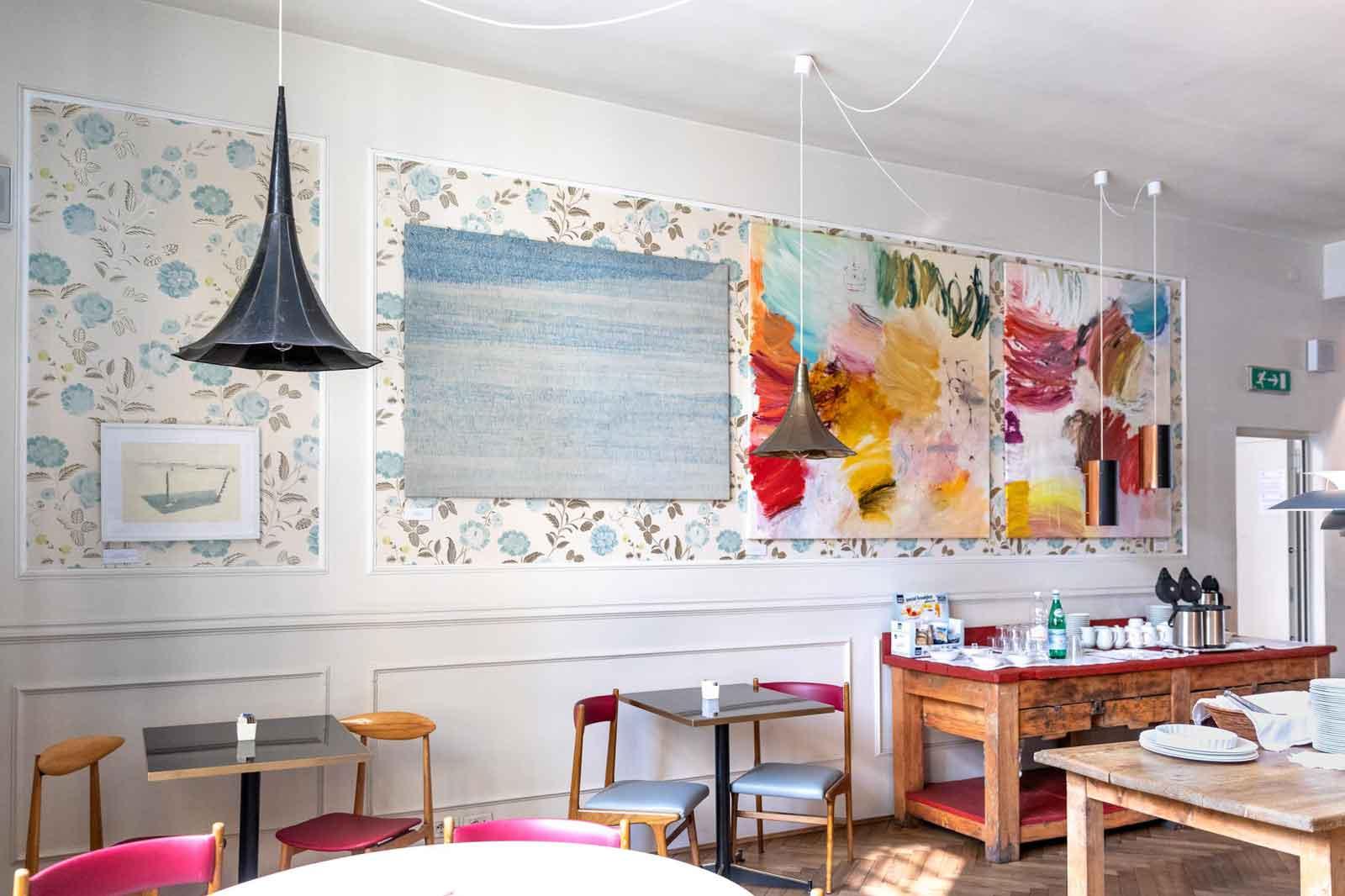 Hotel de charme Vérone centre ville : salle de petit déjeuner du Trieste