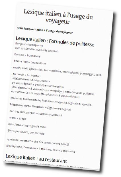 lexique italien a l usage du voyageur
