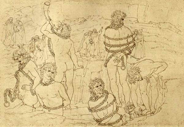 Botticelli's illustratie bij Canto XXXI