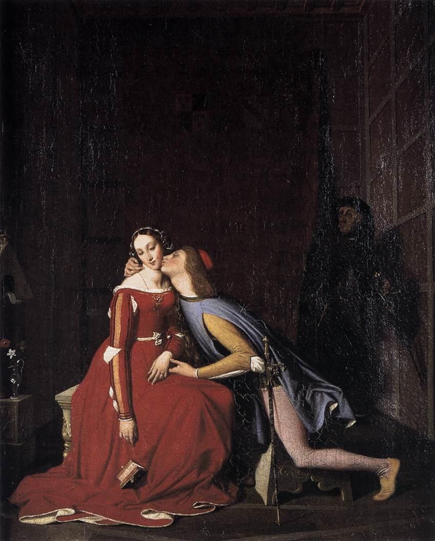 Jean Auguste Dominique Ingres - Paolo en Francesca
