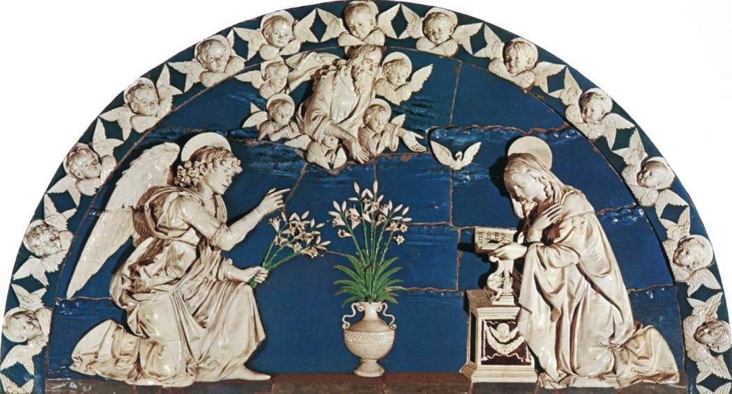 1 Annunciatie Annunciatie, Andrea della Robbia, c. 1493, Spedale degli Innocenti, Florence
