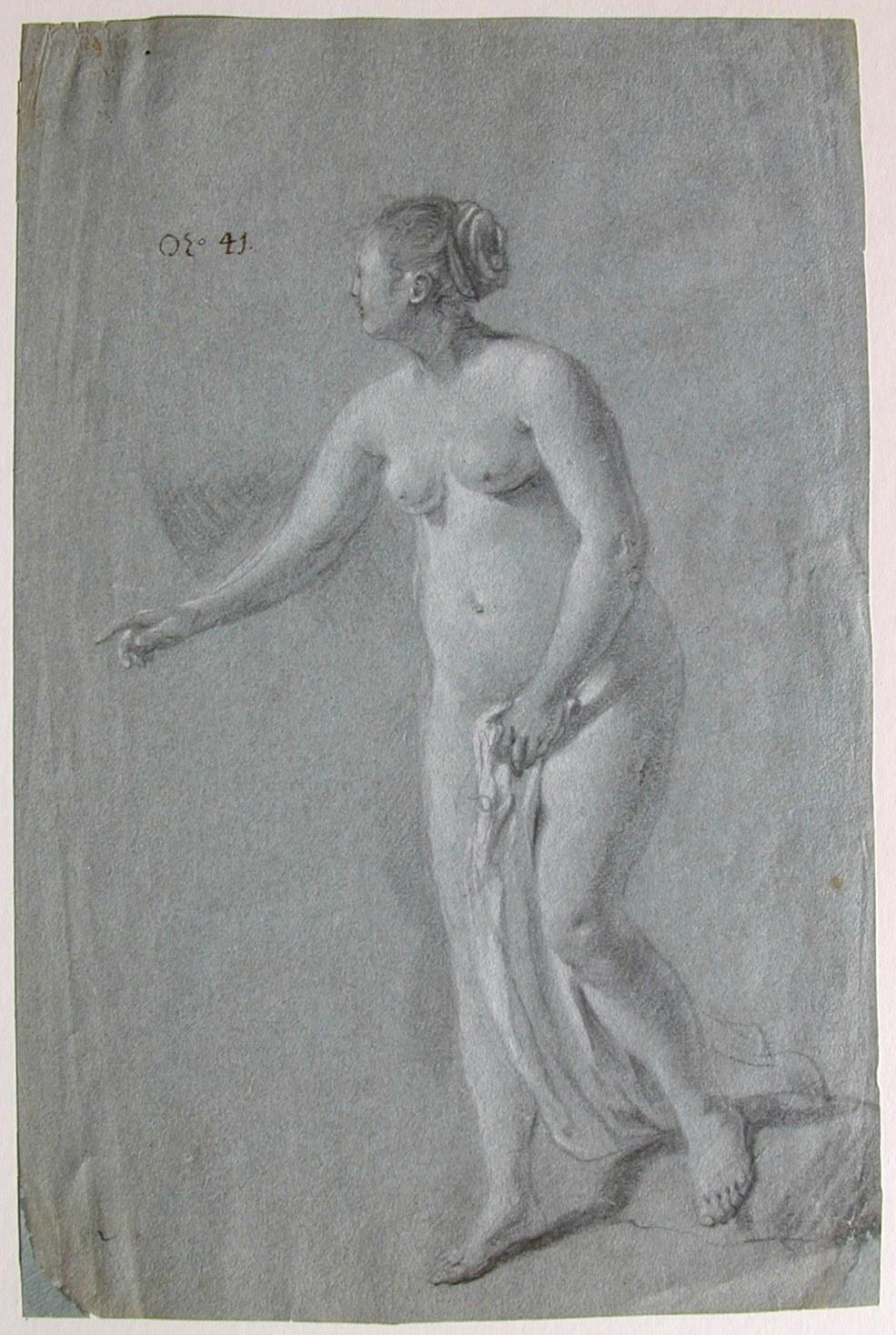 Jacob van Loo, Staand vrouwelijk naakt, particuliere verzameling
