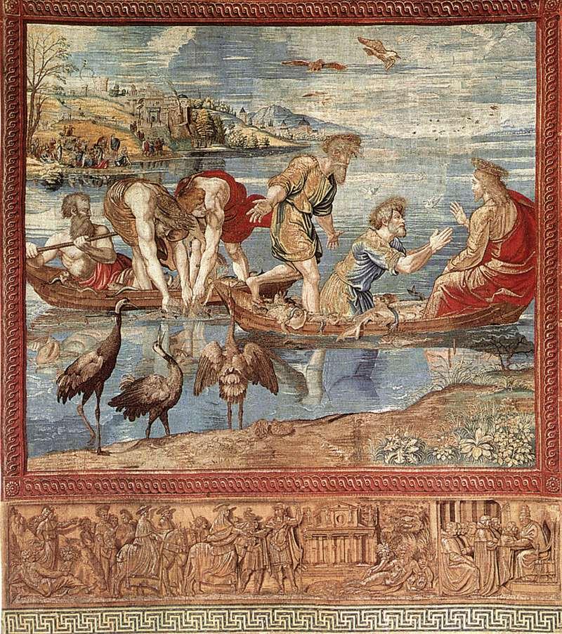Rafael, De Wonderbaarlijke visvangst, Wandtapijt, Musei Vaticani
