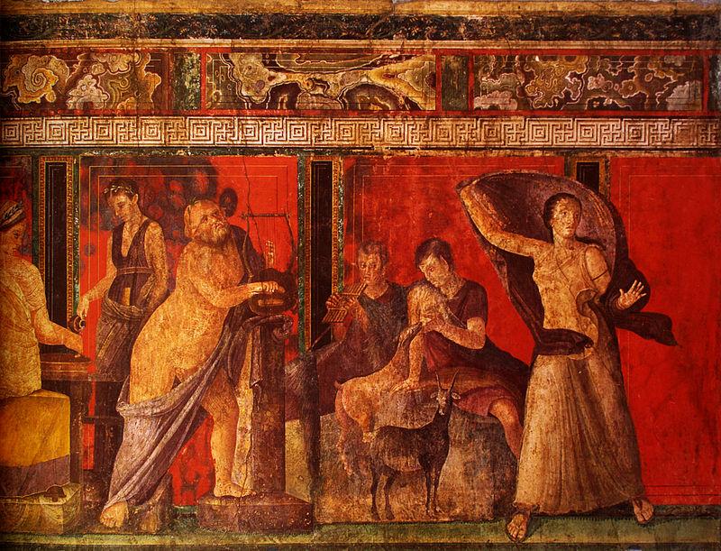 Fresco in de Villa dei Misteri, Pompeii