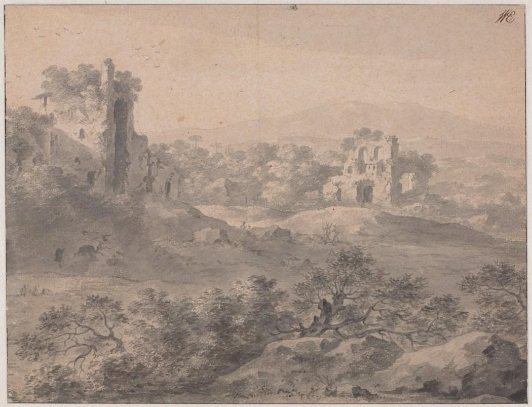 Cornelis van Poelenburgh, Italianiserend landschap met ruïnes, foto © Rijksmuseum Amsterdam