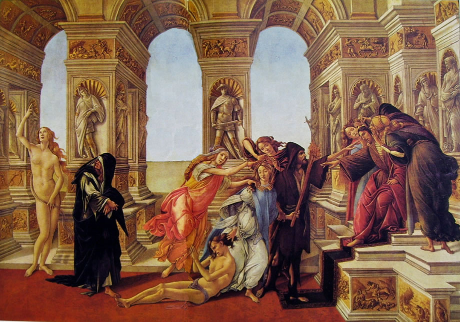La Calunnia, Sandro Botticelli, Uffizi Florence