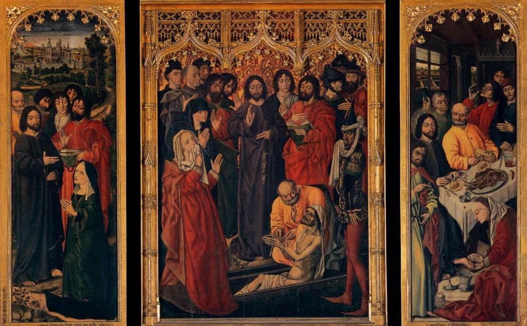 Il restauro del trittico con la Resurrezione di Lazzaro di Nicolas Froment, Uffizi Florence