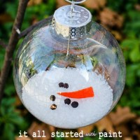 melted snowman ornament