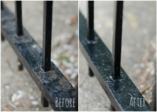 How To Paint Wrought Iron Fence 2