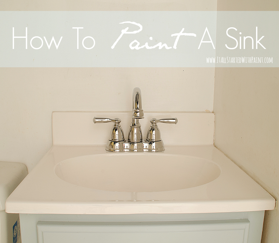 paint your sink it all started with paint