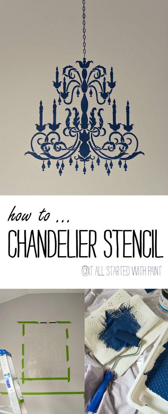 Chandelier Stencil Tutorial It All Started With Paint